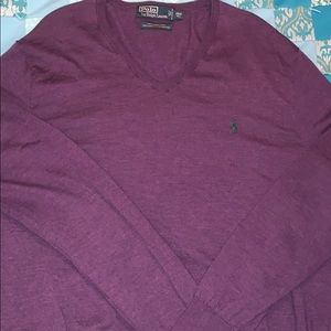 Polo Ralph Lauren 2XLT Purple sweater